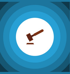 Isolated tribunal flat icon justice vector