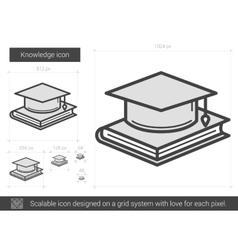 Knowledge line icon vector