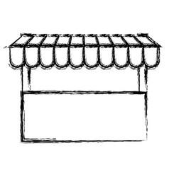 Monochrome blurred silhouette of store icon vector