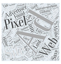 New and latest concept in Pixel Advertising Word vector image