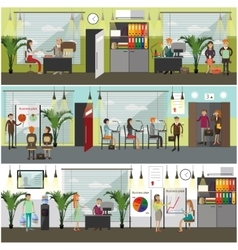 Office concept in flat style vector image