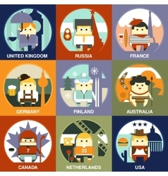 People of Different Nationalities Flat Style vector image vector image