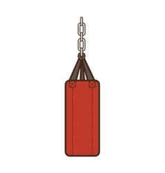 punching boxing sack vector image