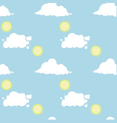seamless pattern with a sunny day sky vector image vector image