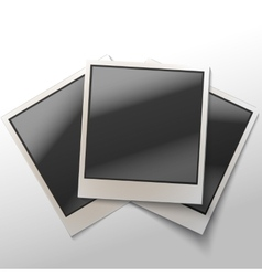 Shiny polaroid frames vector