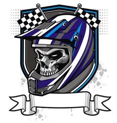 Skull rider vector