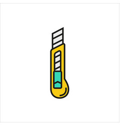 Stationery knife icon on white background vector