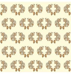 vintage seamless wallpaper yellow vector image