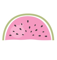 Watermelon - pink piece of fruit isolated on white vector image vector image