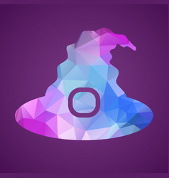 witch hat of triangles vector image vector image