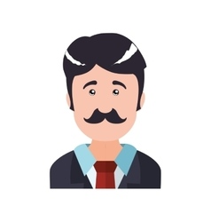 Man male person mustache head icon graphic vector