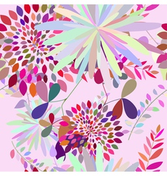Floral s seamless color vector