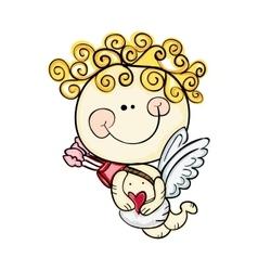 Little baby cupid vector