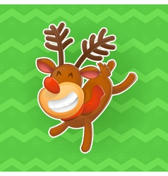 Christmas design elements jolly deer the symbol of vector
