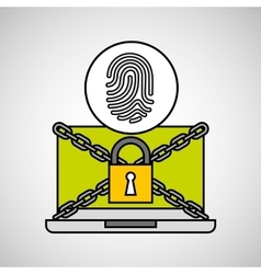 Fingerprint security internet technology vector