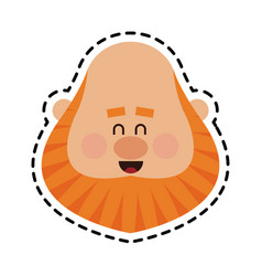 chubby red hair man face icon image vector image
