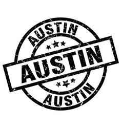 Austin black round grunge stamp vector