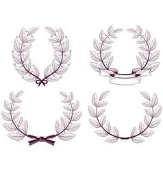 Wreath of the winner vector image