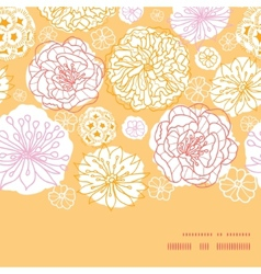 Warm day flowers horizontal frame seamless pattern vector