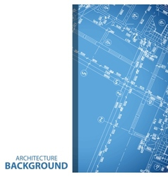 New blueprint building plan background vector