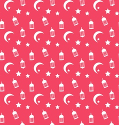 Islamic seamless pattern with arabic lamps vector