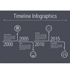 Minimal timeline infographics vector