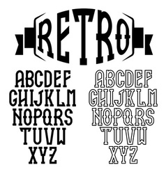 Retro alphabet for restaurant vector