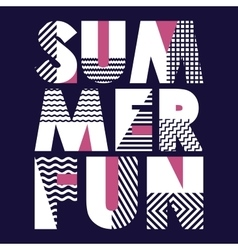 Summer fun t-shirt typography vector