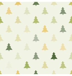 Seamless background with christmas trees vector