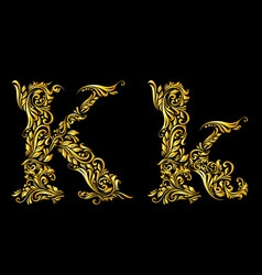 Decorated letter k vector