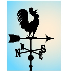 Weather vane silhouette vector