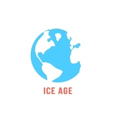 Ice age with blue planet earth vector