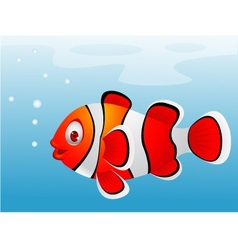 Clown fish cartoon vector