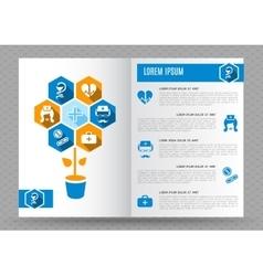 Brochure medical design template vector