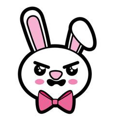 Bunny kawaii cartoon vector