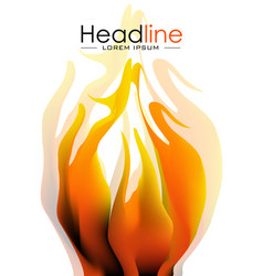 cover design with fire vector image vector image