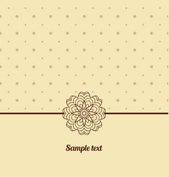 Cover oriental-style card cute picture dots vector