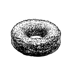 donut sketch icon isolated on white background vector image