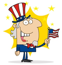 Energetic Uncle Sam vector image vector image