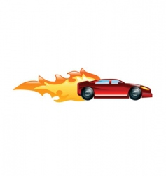 fast car vector image vector image