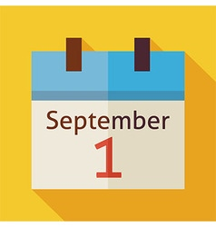 Flat Back to School September Calendar with long vector image vector image