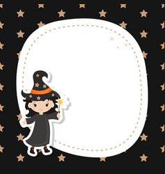 Greeting card with cute witch greeting card with vector