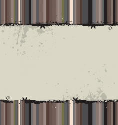 grunge striped background vector image