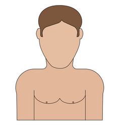 Half naked guy icon vector