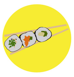 Isolated sushi vector