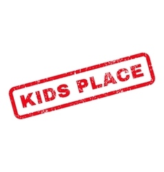 Kids place text rubber stamp vector