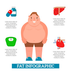 lose weight by jogging infographic elements and vector image vector image