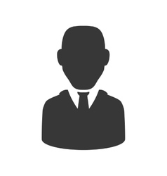 Man silhouette icon Avatar design graphic vector image