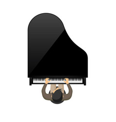 musical background piano key vector image