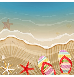 palm shadow and wave vector image vector image